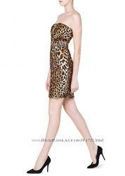 Стильное платье Манго Mango с леопардовым принтом, размер М, уже в наличии