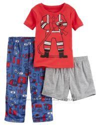 Пижама тройка для мальчика Carters Пожарный A40591 2т 3т 4т 5т
