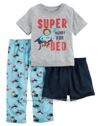 Пижама тройка для мальчика  Carters Обезьянки A40595 2т 3т 4т 5т