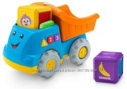 Fisher-Price Грузовик Laugh Learn First Words Fill Dump Truck с сенсорными