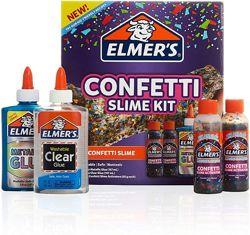 Elmers Slime слайм набор для создания слайма с конфетти confetti kit