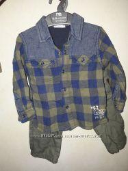 Рубашка и штаны Chicco 74-80 см новые
