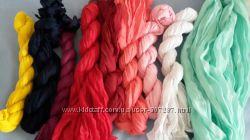 Жатый шарф, яркие шарфы