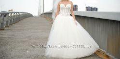 Свадебное платье фатин