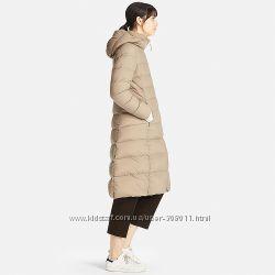 Пуховик UNIQLO пальто ультралегкое теплое Оригинал р. С