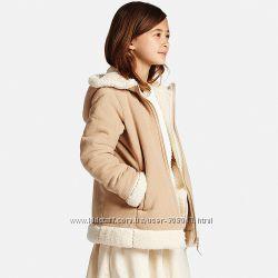 Пальто для девочек флис BLOCKTECH от Юникло Uniqlo