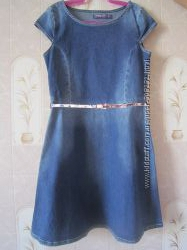 Супермодное джинсовое платьице 11-12 лет