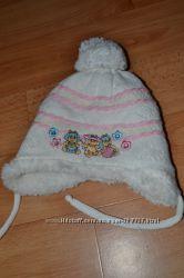 Зимняя шапка для девочки 1 год