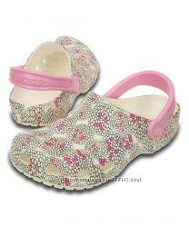 Женские Сабо crocs Women&acutes Classic Poppy Clog Mule. РазмерM8W10 41-42