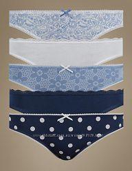 Хлопковые женские трусики-бикини Marks & Spencer Англия размер 16