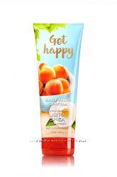 Ароматный крем для тела с маслом ши Get Happy - White Peach Sangria BBW