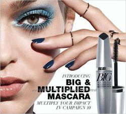 Чёрная тушь для ресниц Avon Big Multiplied Volume Mascara Объем Разделение