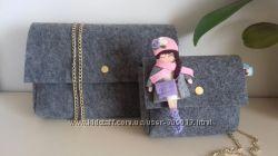 дорослі та дитячі сумочки брошки ручної роботи