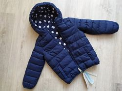 Двухсторонняя куртка пуховик для девочки Benetton