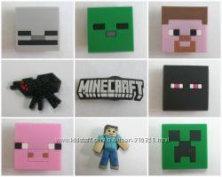 Джибитсы Jibbitz Майнкрафт Minecraft 13 видов