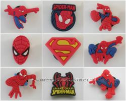 Джибитс Jibbitz Людина павук Спайдермен Человек паук Spider Man