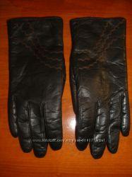 Перчатки зимние жен. 100 кожа на меху окружность 19, 5 см
