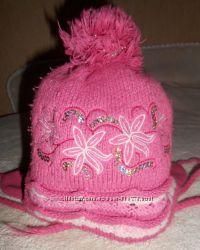 Польская зимняя шапка на девочку AGBO, 48-51