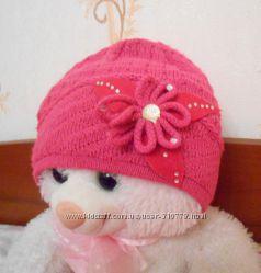 Польская демисезонная шапочка на девочку GRANS, размер 50-52