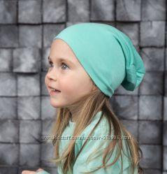 Детские весенние шапочки бини чулочки. НОВЫЕ расцветки 2017