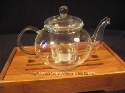 Чайник греческий стеклянный со стеклянной колбой 600 мл