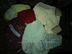 Носки-тапочки вязанные