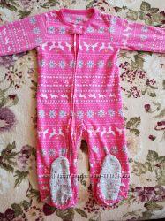 Флисовые человечки-слипы, пижамки КАРТЕРС, в идеале