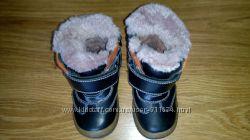 Зимние ортопедические сапожки в идеальном состоянии, кожаные, теплые