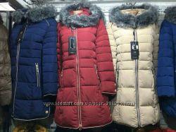 Зимняя курточка . Есть черные и вишневые  L.