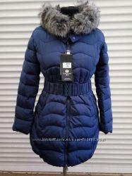 Женская стильная куртка на зиму.  L, XXL. В наличии цвет топлёное молоко.
