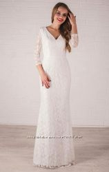 Роскошное свадебное белое платье в пол