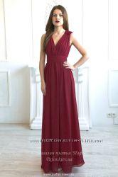 Платье с вырезом на запах