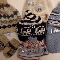 Тёплые наборчики, шапочки и шарфики, варежки
