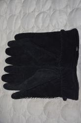 Кожаные перчатки, размер M