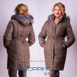Качественные зимние женские куртки от 48 до 52 р.