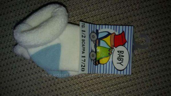 Носочки новые для новорожденного и первые 2 мес