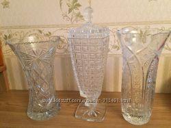 Хрустальные вазы новые кубок шар тюльпан