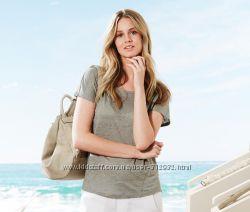 Женская футболка светло-серая размер евро 36-38 евро 44-46 Чибо ТСМ TCHIBO