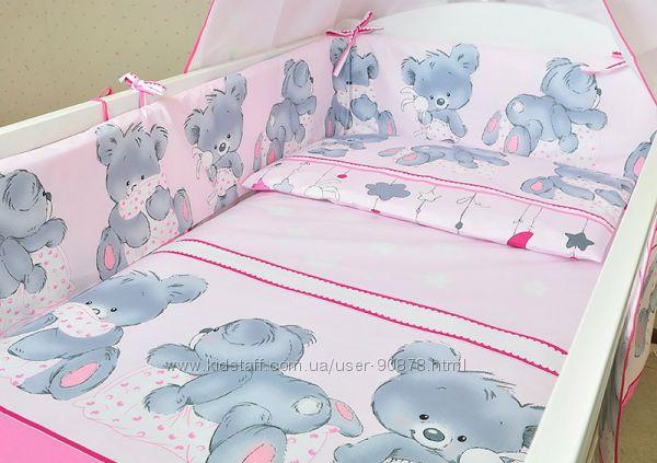 Бортики в кроватку новорожденного, бортики бампер защита на кровать