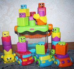 мега лот Весёлые  кубики- блоки с сюрпризом  Fisher- Price