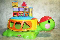 Большой строительный набор fisher price -черепаха, кубики,