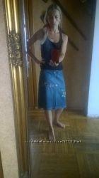 Итальянская джинсовая юбка Pinko