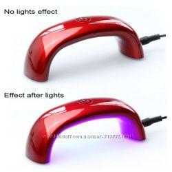 LED лампа 9W для гель-лака 30-60сек. В наличии Сушит быстрее чем УФ лампа
