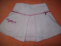 Вельветовая юбочка с трусиками 9-18мес