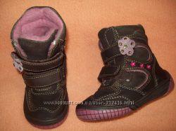 Демисезонные кожаные ботиночки , сапожки Baren - Schuhe 22р. 14 см