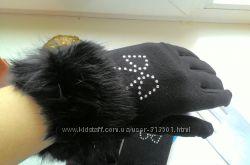 перчатки мех нат. кролик