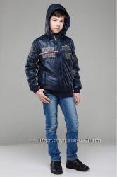 Модная утепленная куртка для мальчика 6-13лет в стиле Милитари ТМ Nui Very