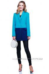 Короткое кашемировое женское пальто блейзер Леонора ТМ Nui Very р-ры 42-52