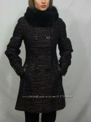 Зимнее женственное пальто, опушка песец. , 44, 46, 48раз