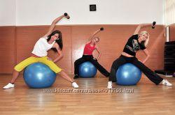 Мяч фитбол для фитнеса и массажа 55 см, 65 см, 75 см, 85 см,  цвета